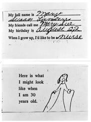 A letter written by Mary Sue Howlett, Class of 1984,