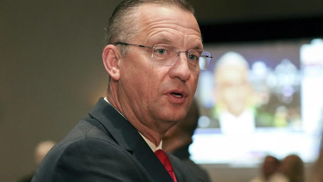 Republican candidate for Senate Rep. Doug Collins attends an election night watch party in Buford, Ga., Tuesday, Nov. 3, 2020.