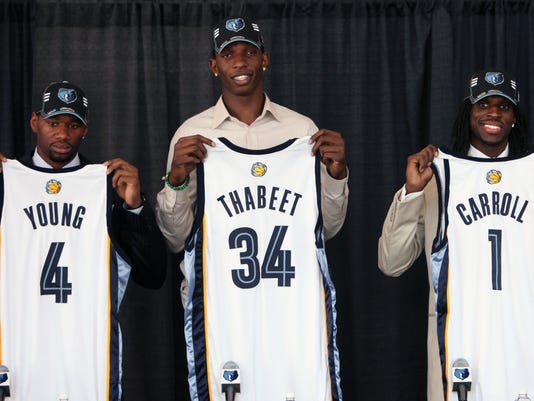 Sam Young, Hasheem Thabeet, DeMarre Carroll