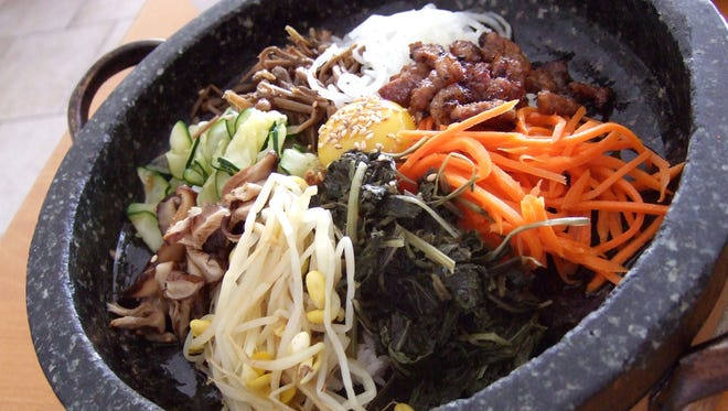 The bibimbap dish from Hodori, a restaurant serving Korean food, in Mesa.