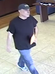 Photo of the 'Cyclical' Arizona bank robber in a Peoria bank robbery.