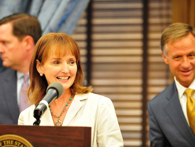 Speaker Beth Harwell and Gov. Bill Haslam make a health
