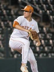 University of Texas pitcher Josh Sawyer is a former