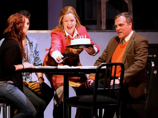"Kathy Walton Lafon and Jeff Ryman play Diana and Dan in the ShenanArts production of ""Next to Normal,"" directed by Greg Beam. The play is a contemporary family drama about a woman's struggle with bipolar disorder. The photograph was taken at the nTelos Theatre in Staunton on Sunday, May 4, 2014."