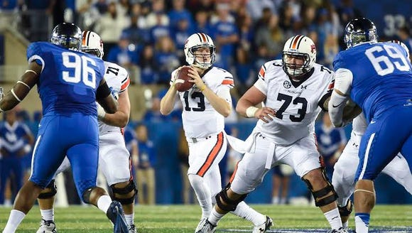 Sean White (13).  Auburn at Kentucky in Lexington,