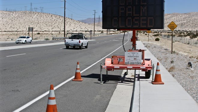 In this file photo, an improvement project begins Date Palm Drive between Varner Road and Interstate 10. The roadwork has been completed, but other infrastructure projects are in the works for Cathedral City.