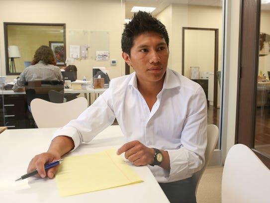 Juan Antonio Nicolas fled Guatemalan gang violence