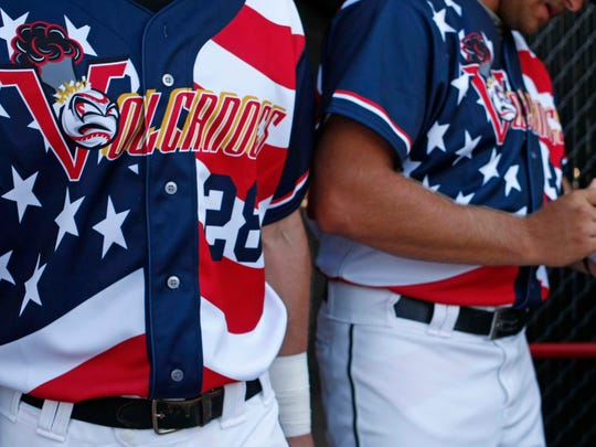 The Salem-Keizer Volcanoes have a tradition of wearing patriotic jerseys during their annual Patriotic Tribute, which is this weekend at Volcanoes Stadium.