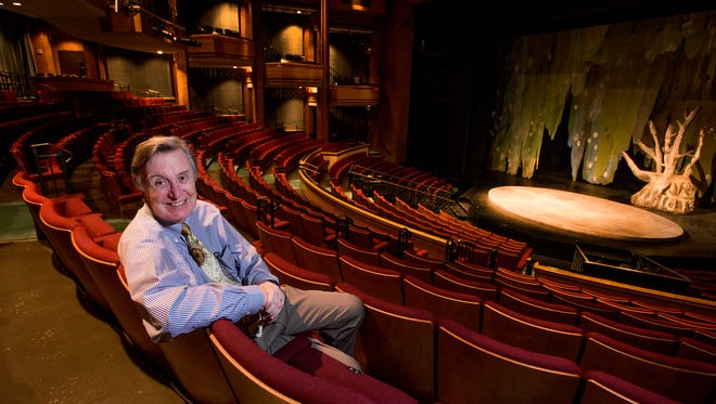 Alabama Shakespeare Festival Producing Artistic Director Geoffrey Sherman at the festival stage at ASF in Montgomery, Ala. on Friday April 8, 2016.