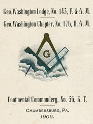 This is a pocket sized schedule of the Masonic meetings