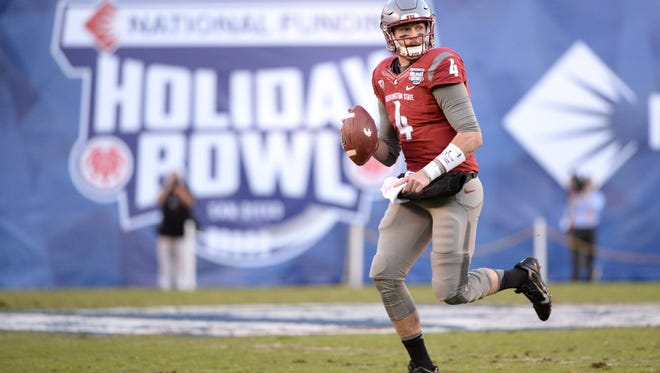 Luke Falk and Washington State also played in last year's Holiday Bowl, against Minnesota. Falk is the Pac-12's all-time leader in passing yards and touchdowns.