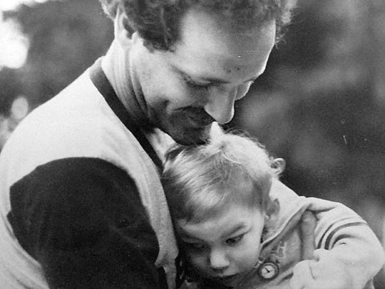 Gary Yordon and his son Zachary in the early 1980s.