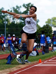 Houston's Kyla McLaurin competes in the triple jump
