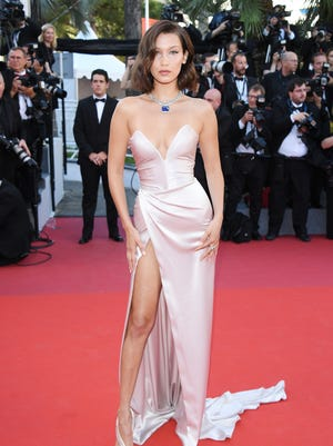 Bella Hadid chose an  Alexandre Gauthie gown for Cannes' opening night.