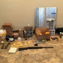 Items collected by the police from a Newtown home.