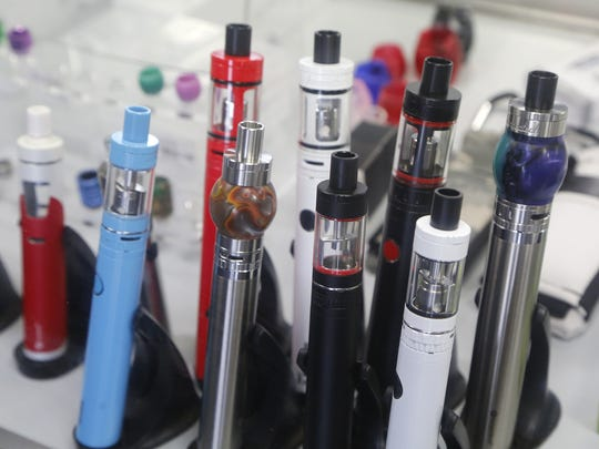John Terhune/Journal & Courier Vape mods for sale at the Fog Foundry  April 18 at 2613 Maple Point Drive in Lafayette. Vape mods for sale at the Fog Foundry Monday, April 18, 2016, at 2613 Maple Point Drive in Lafayette.