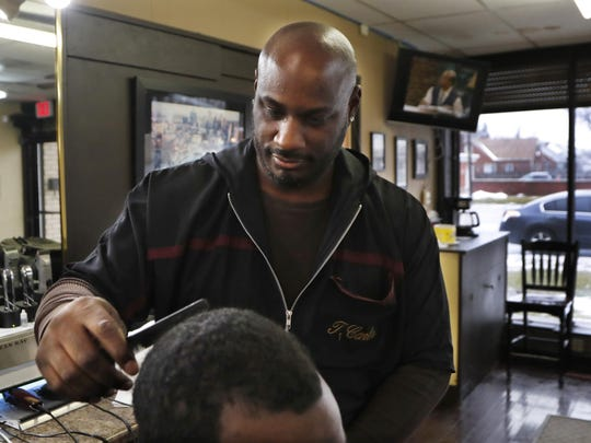 Detroit barber Thomas Carter says there's nothing funny