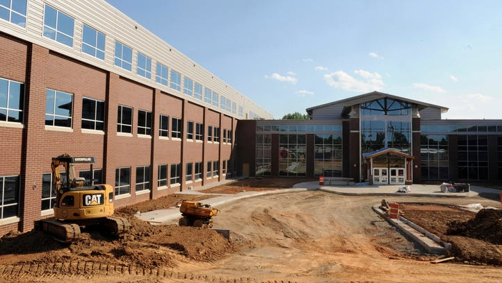 Construction at the new Louisa High School in Louisa,