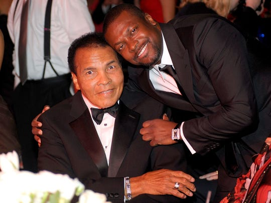 Chris Tucker and Muhammad Ali attend Celebrity Fight