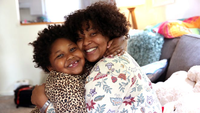 Geanna Mohamed with her daughter Leilani. Leilani is autistic and Geanna has found it hard to get the services she needs for her daughter.