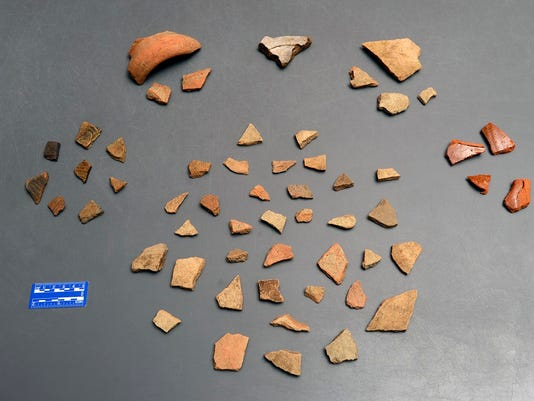 POTTERY SHERDS (WITH SCALE)
