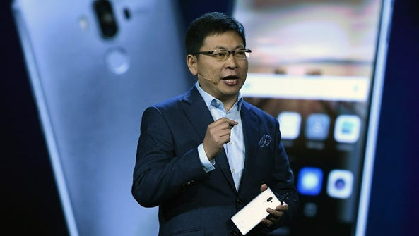 CEO of Huawei Consumer Business Group Richard Yu introduces