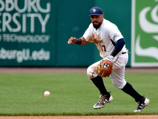 Shortstop Ryan Dent will return to the York Revolution in 2019. DISPATCH FILE PHOTO