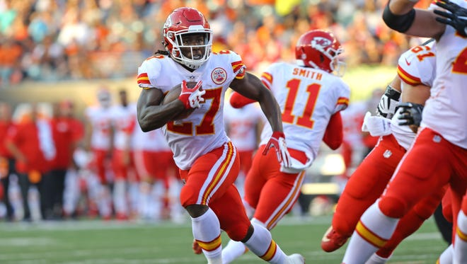 Spencer Ware missed the entire 2017 season with a knee injury.