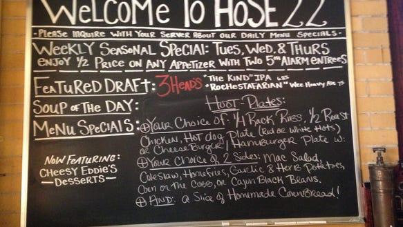Hose 22 menu