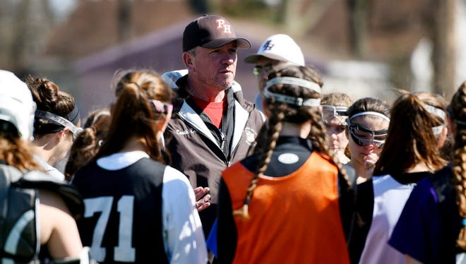 Coach Scott Ernest has led the Pascack Hills girls lacrosse team to a historic season in 2017.