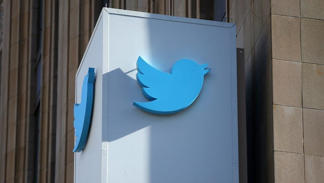 FILE - OCTOBER 27, 2014: It was reported the shares of Twitter are down as much as 8 percent after the company reported its third quarter earnings October 27, 2014. SAN FRANCISCO, CA - OCTOBER 25: A sign is posted outside of the Twitter headquarters on October 25, 2013 in San Francisco, California. Twitter announced that it has set a price range for its initial public offering between $17 and $20 per share and hopes to sell 70 million shares. (Photo by Justin Sullivan/Getty Images) ORG XMIT: 503816393 ORIG FILE ID: 185862379
