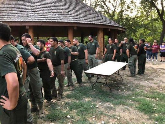 Firefighters from American Samoa and Hawaii were honored guests at Redding Rancheria's gathering for prayer and celebration Tuesday night.