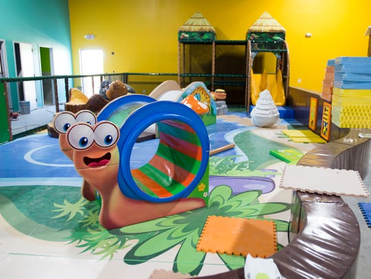 Equipment in the toddler area at Newtopia, an indoor