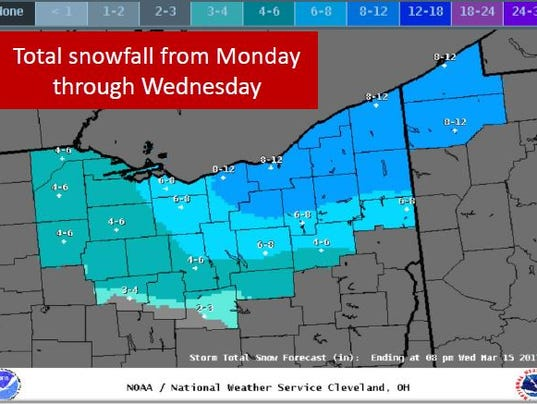 Northern and central Ohio winter storm