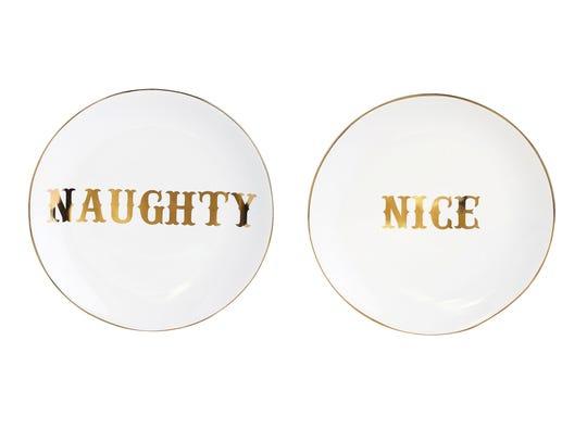 Emily & Meritt Naughty & Nice Plates