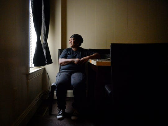 Barbara Milligan, seen in her York County home in January, is among the many people denied a temporary protection from abuse order in York County in 2014. She did not allege physical abuse in her petition. But she said she has anxiety and depression that stem from alleged abuse, and said she keeps her blinds closed and doors locked.