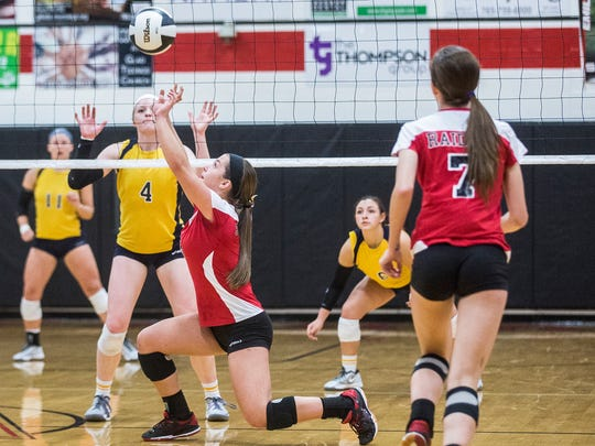 Delta defeated Wapahani and Wes-Del defeated Daleville during the Delaware County Volleyball Championship Thursday evening.
