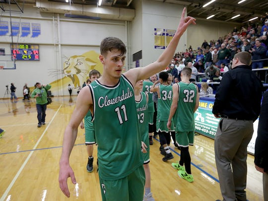 Cloverdale's Cooper Neese finished his career seventh on the state's all-time scoring list.