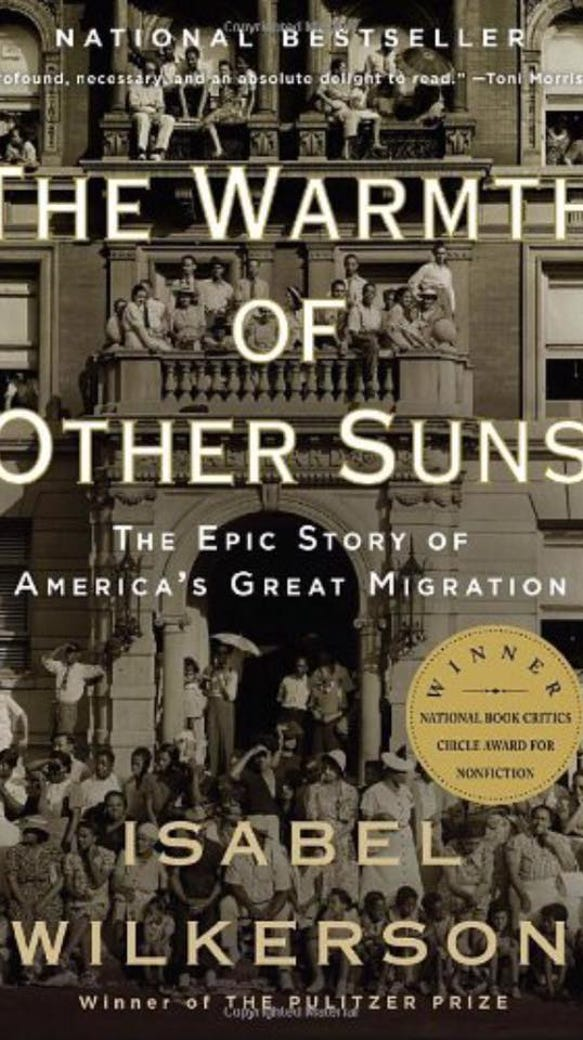 Isabel Wilkerson's work tells about The Great Migration,