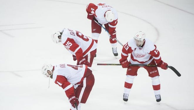 As the game went on, the Wings became pictures of persistence, framed by frustration.