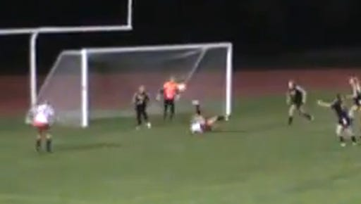 Courtney Robertson's bicycle kick against Greece Athena on Oct. 19.
