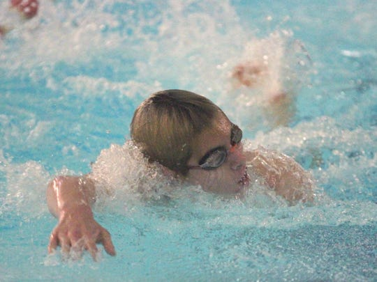 Lexington's Wilson Cannon was a triple winner in last Saturday's sectional meet inside the Frank Bartholow Natatorium.