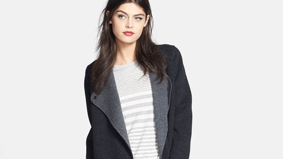 This Vince two tone coat at Nordstrom is $450 on sale.