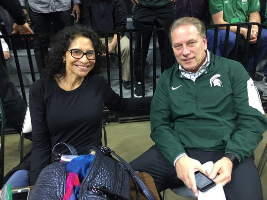 Michigan State basketball coach Tom Izzo and his wife, Lupe, on March 24, 2017.