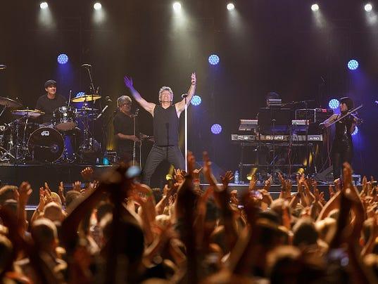 Jon Bon Jovi of Bon Jovi performs onstage at Rogers Arena on August 22 ...