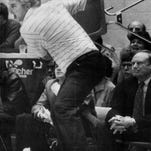 Bob Knight created an indelible memory when he heaved a chair across the court during a game.