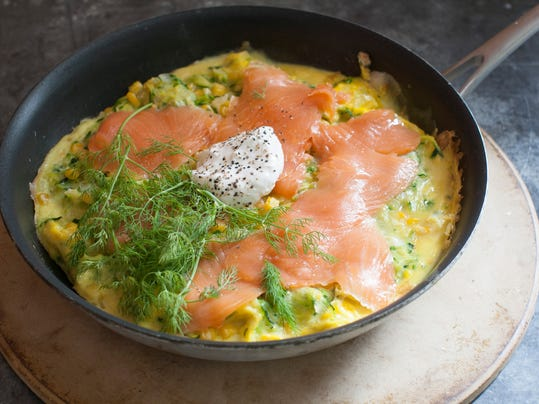 Food Healthy Corn Omelet