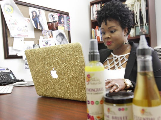 Rochelle Graham of Alikay Naturals, at her office.