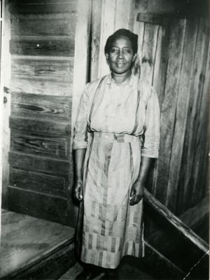 Viola Barnett, circa 1940-50, from copy of photograph made by Pop Stringfield in Mrs. Barnett's collection, accessed through Mars Hill University.