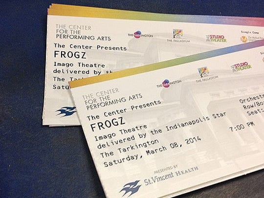 Want to see Frogz at the Carmel Palladium on Saturday, March 8 at 7 p.m.?